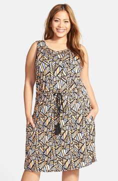 Lucky Brand Print Blouson Dress (Plus Size) available at #Nordstrom