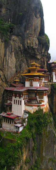 Taktsang Palphug Monastery or Paro Taktsang (also known as Tiger's Nest) in Paro Valley -Disctrict-  Buthan