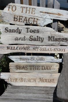 Beach Signs with laser engraver. Check out ngraving.com for all of your…
