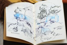 Sketches in Manekibook | Flickr - Photo Sharing!