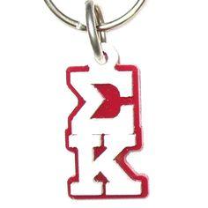 Sigma Kappa Sorority Letter Keychain #Greek #Sorority #Accessories #SigKap #SigmaKappa