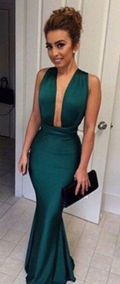 Hunter Green Prom Dress,Mermaid Prom Dress,Custom.Fishtail dress,Sexy dress,Homecoming dress