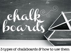 there's more than one way to use a chalkboard