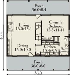 First Floor Plan image of Featured House Plan: BHG - 3485