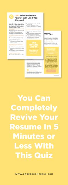 Formatting Your Resume Like This Can Help You Land The Job Job - resume quiz
