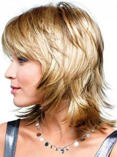 Medium Shag Hairstyles with Bangs Fine Medium Short Hair, Medium Hair Cuts, Short Hair Cuts, Medium Hair Styles, Short Hair Styles, Medium Blonde, Short Bangs, Medium Shag Hairstyles, Layered Haircuts