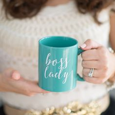 Mint Boss Lady Coffee Mug, Coffee Mugs, Boss Lady, Quote Coffee Mug, Inspirational Coffee Mug, Coffee Cup, Coffee Mug Gift, Girl Boss Mug