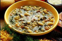 From Sardinia enjoy Bean, Wild Fennel and Potato Soup (Minestra di Fagioli, Finocchetto e Patate)
