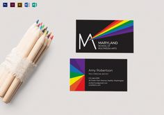 85 best business card designs images on pinterest card designs rainbow business card template reheart Image collections