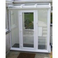 Made to Measure Full Height Lean-to Porch Upvc Porches, Sas Entree, Lean To Conservatory, Glass Porch, Glass Roof, Basement Entrance, Entrance Hall, Front Door Porch, Porch Kits