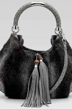 Gucci Indy Top Handle Fur Handbag (a favourite repin of VIP Fashion Australia - providing a portal to exclusive fashion and style from across the globe.  www.vipfashionaustralia.com - Specialising in blacklabel fashion - womens clothing Australia - global fashion houses - Italian fashion - fashion au and fashion boutiques - enter my cat walk )