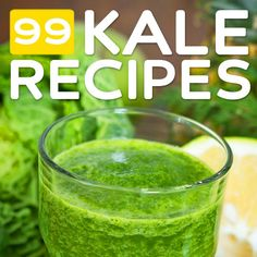"I often buy kale with good intentions and later think, ""what the hell am I going to do with all this kale?"" No more. 99 Kale Recipes- organized by meal & category. The holy grail of Kale recipe lists!"