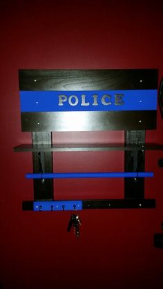 Equipments holder... complete with a bar for hanger (s), a shelf, and a place to hang your keys....easy to make