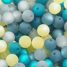 Perlenmix: petrol-grau Easter Eggs, 18th, Design, Grey