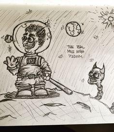 Baseball on the moon! #baseball #moon #outerspace #alien #astronaut #astros #yankees #nyc #ny #hoboken #nj #phillies #character #characterdesign #art #artistsofinstagram #sketch #sketchbook #sketching #doodle #doodles #doodlesofinstagram
