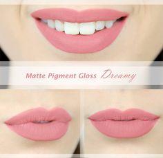 """Jemný tekutý matný rúž Matte Pigment Gloss od americkej značky L.A.Girl v odtieni Dreamy má krásny """"nude"""" efekt, ktorý je ideálny ku každému líčeniu <3"""