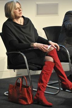 In the week that the prime minister appears on television with Jeremy Paxman for the live debate, we chart the political life of Theresa May in pictures. Mature Fashion, Fashion Over 50, Work Fashion, Fashion Advice, Sexy Older Women, Old Women, Teresa May, Chic Outfits, Work Outfits