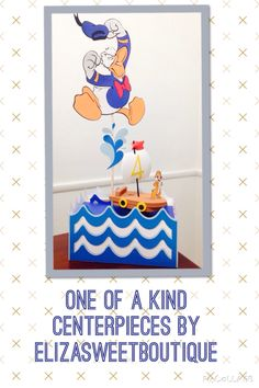Donald Duck centerpieces by Eliza's sweet boutique