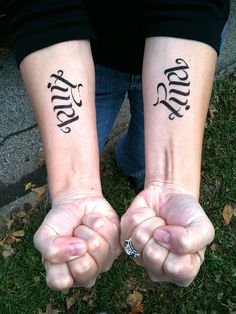 This is where I want my ambigram tattoo of Colin/Cason, just on the left arm though. Reads Colin one way, flipped over it reads Cason