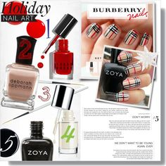 """""""Burberry Nails"""" by mariela4194 on Polyvore"""
