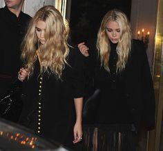 MARY-KATE + ASHLEY   BLACK ON BLACK IN PARIS