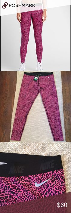 "Nike black and pink leggings Nike golf black and pink leggings 88% polyester 12% spandex  Inseam 30""  New with tags Nike Pants Leggings"