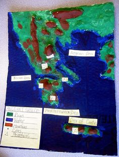 Salt and flour map of Ancient Greece Ancient Greece For Kids, Ancient Greek, Ancient Egypt, Greece Map, Kinesthetic Learning, Ancient World History, Map Skills, Greek And Roman Mythology, Classical Antiquity