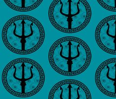 Poseidon's Sheild fabric by kfrogb on Spoonflower - custom fabric