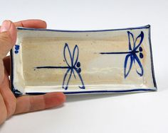Butter dish. Blue Dragonflies are the theme of my book! I would like this dish! www.BlueDragonflies.net/gallery