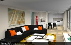 Render realizado por ilustra3d Interiorista: Antonio Monge Andorra la Vella
