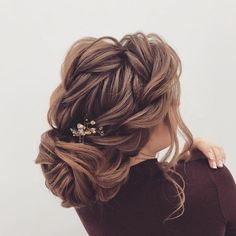 Beautiful loose braided updo hairstyles, upstyles, elegant updo ,chignon ,bridal updo hairstyles ,wedding hairstyle #weddinghairstyles