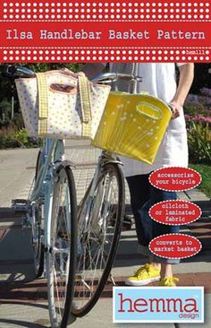 Sew your own handlebar basket! Cute cute cute!  This is one of the best ones I've seen!