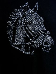 Sparkling Rhinestone Horse Head Womans Style by firelandsteeshirts, $17.99