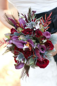 red bouquet  |  meghan wiesman photography