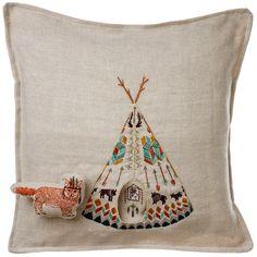 Coral and Tusk Plains Fox Pocket Pillow   www.acorntoyshop.com