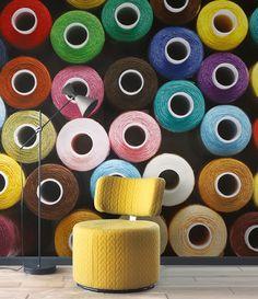 Collection SO WALL 2 : papier-peint, trompe l'oeil, mercerie, couleurs, gaieté