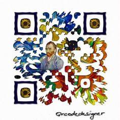 Another beautiful Van Gogh QR Code! #QRCode #VanGogh