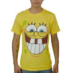 244c8c8546 Nickelodeon Spongebob Squarepants Face Licensed Yellow T-shirt