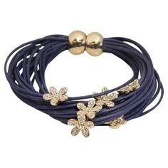 Flora Bracelet in Navy
