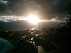 Obzor za západu slunce.