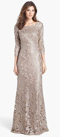 Tadashi Shoji - Embellished Lace Gown