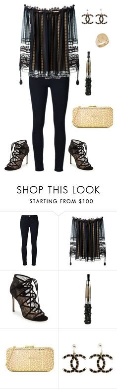 """Black Widow"" by crystalcult on Polyvore featuring Frame Denim, Chloé, Pour La Victoire, Love Moschino, Chanel and Diamond Star"