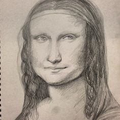 Pencil sketch of Da Vinci's Mona Lisa