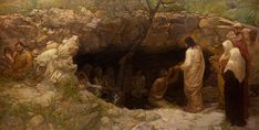 Christ Among the Lepers by J. Kirk Richards. Picture. This incredibly moving masterpiece, over twelve feet long