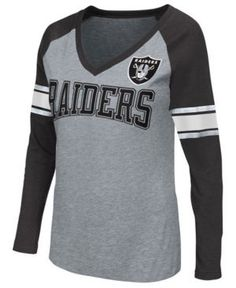 G-iii Sports Women's Oakland Raiders In the Zone Long Sleeve T-Shirt - Gray