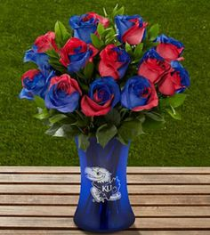Kansas jayhawk roses show you really care :)