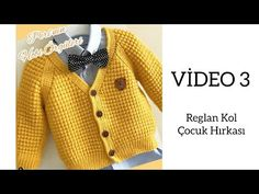 Hand Knit Cardigan Models - Handmade That Knitted Baby Cardigan, Knitted Baby Clothes, Hand Knitted Sweaters, Baby Sweaters, Crochet For Boys, Knitting For Kids, Hand Knitting, Baby Knitting Patterns, Handgestrickte Pullover