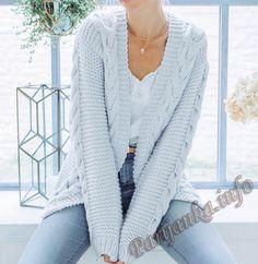 Fabulous and Stylish Crochet Cardigan Patterns Ideas Part crochet cardigan pattern; crochet cardigan plus size; crochet cardigan with hood; Cardigan En Maille, Crochet Cardigan Pattern, Chunky Knit Cardigan, Knit Crochet, Easy Crochet, Plus Size Cardigans, Cardigans For Women, Chunky Knitting Patterns, Pulls