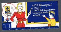 Original 1950's Maltex Whole Grain Cereal Advertising Blotter