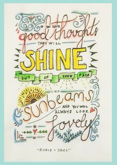 Roald Dahl quote free printable - color via www.inchbyinchlittlesnail.com
